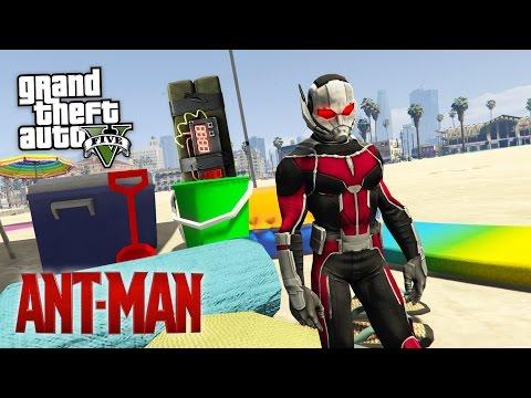 GTA 5 Mods - ANT-MAN MOD w/ SUPER SMALL ANT-MAN! GTA 5 Ant-Man Mod Gameplay! (GTA 5 Mods Gameplay)