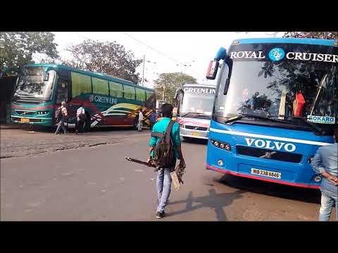 "[3 in 1] Kolkata to Asansol ""Greenline"" Volvo buses departing from Esplanade bus terminal"