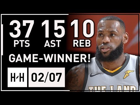 LeBron James AMAZING Triple-Double Highlights vs Timberwolves (2018.02.07) - 37 Pts, Game-WINNER!