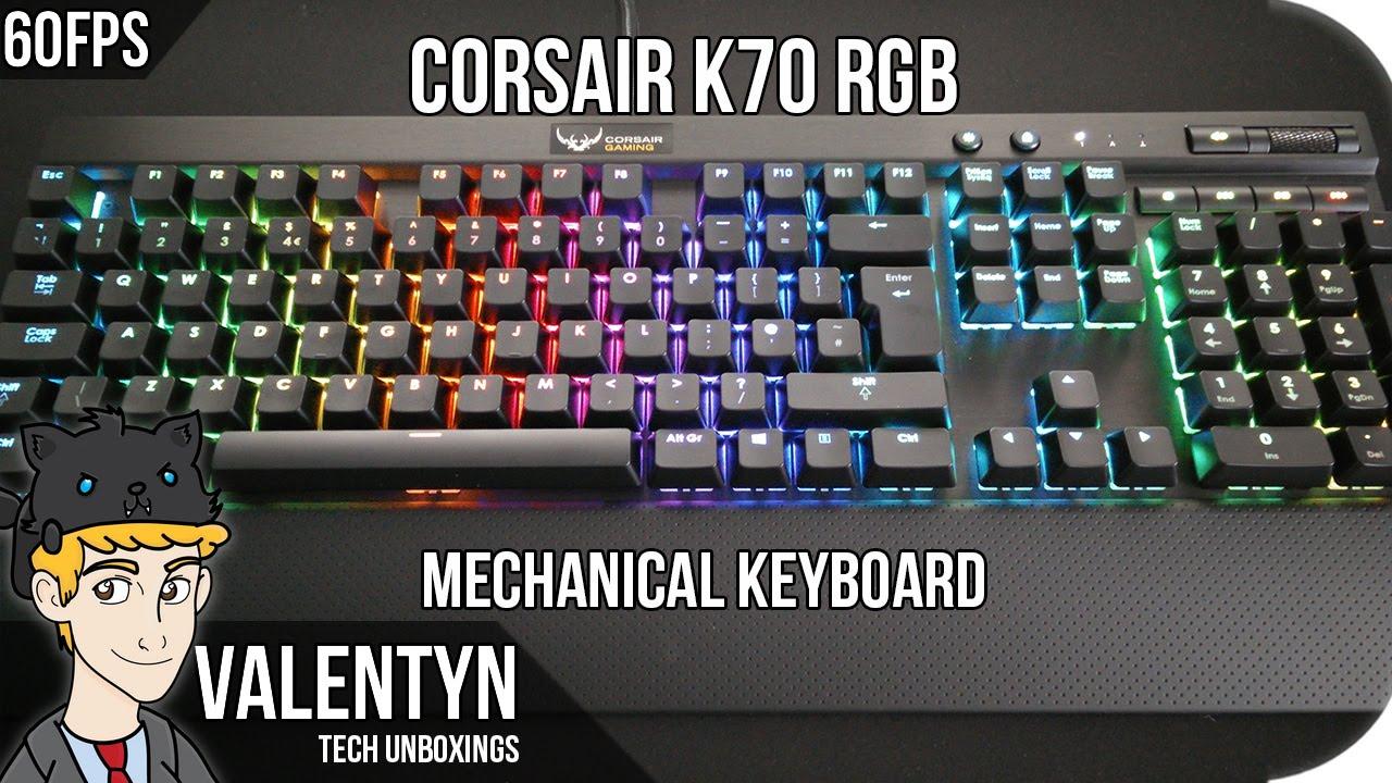 85cd90d352f Unboxing Corsair K70 RGB - 4K - YouTube