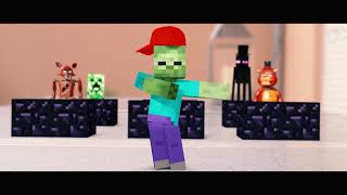 Monster School in REAL LIFE: Minecraft vs. FNAF Fortnite Dance Battle