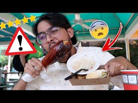 جربت اكل الشوارع الامريكي 🤢 ( طبخوا لحم تمساح قدامي !!! )