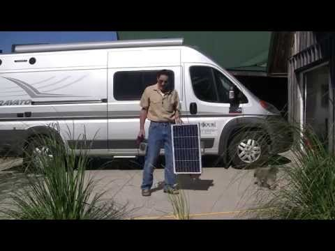 RV Solar battery charging station by Missouri Wind and Solar