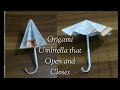 Origami Umbrella : That Open and Closes (slow)