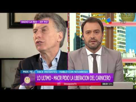 Macri dijo que el carnicero que persiguió y mató a un ladrón debe estar en su casa