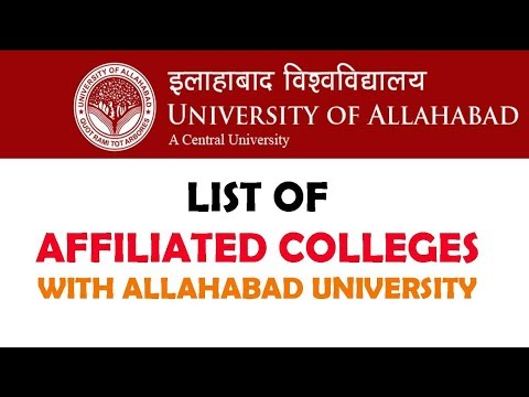 LIST OF COLLEGES AFFILIATED WITH ALLAHABAD UNIVERSITY