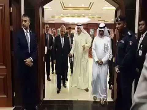 الشيخ فيصل الحمود أولم على شرف وزير التخطيط ووزير التجارة العراقي والوفد المرافق له