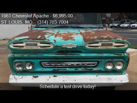1961 Chevrolet Apache Pickup Flatbed For Sale In St Louis M Youtube