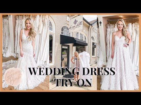 Wedding Dress Try On! || Kelly Hoover