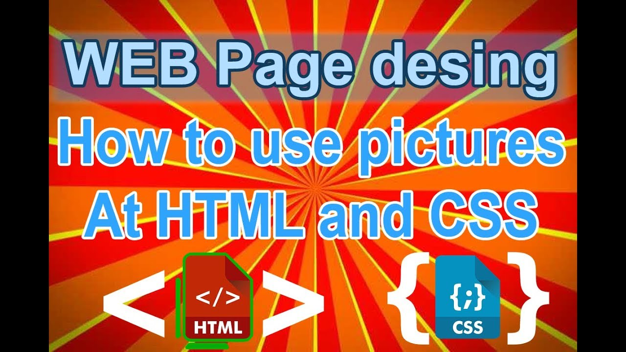 how to add an image in html css
