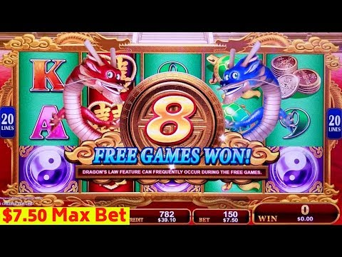 Dragon's Law Twin Fever Slot Machine Max Bet Bonus | Mamont Power Slot Bonus | Miss Kitty Gold Bonus