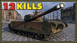 T-44-100 - 12 Kills - 1 VS 5 - World of Tanks Gameplay