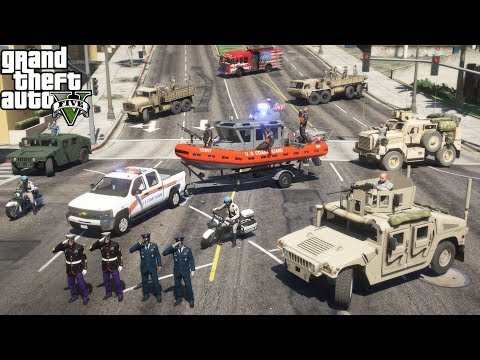 GTA 5 Veterans Day Parade Featuring The Army, Marines, Navy, Air Force & Coast Guard |