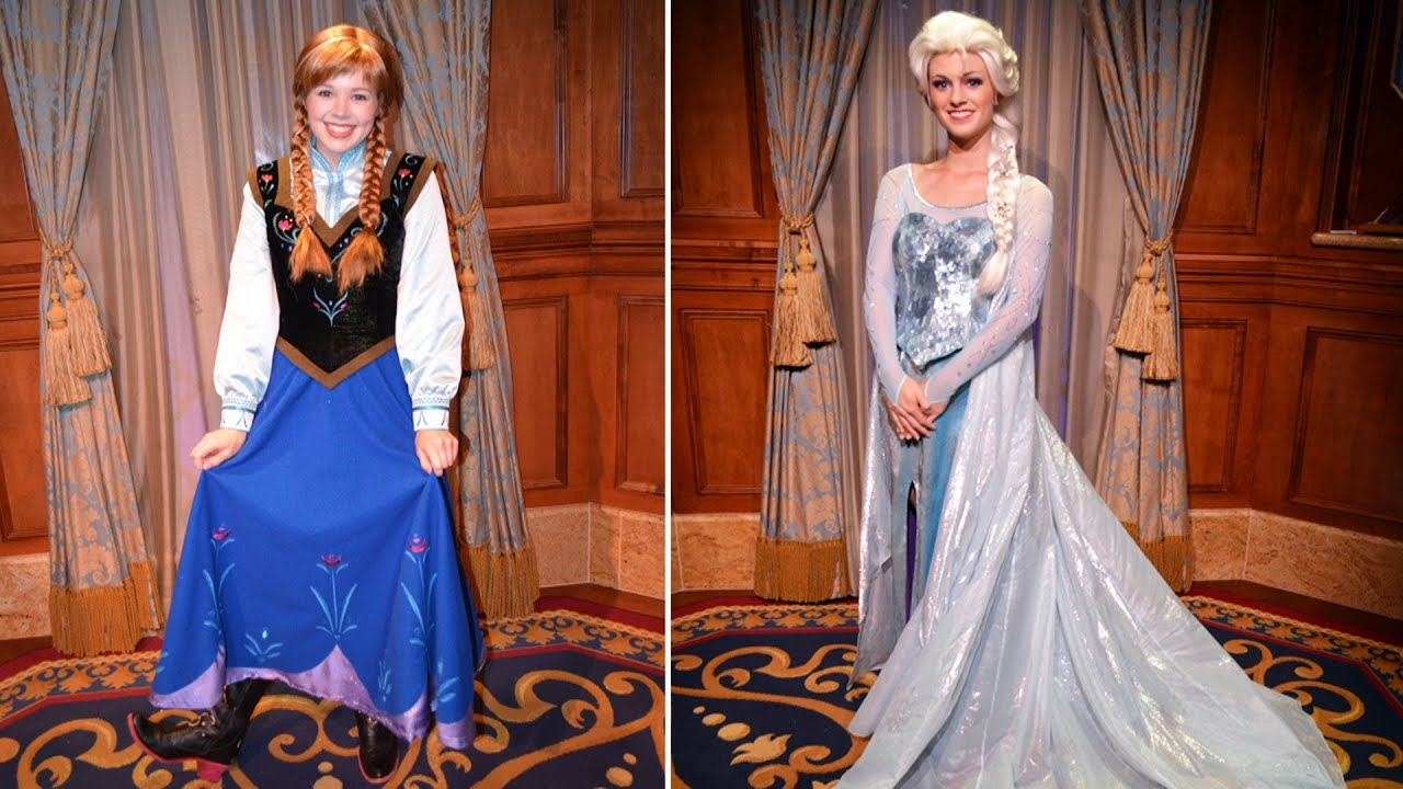 Updated anna elsa frozen meet greet meeting separately in updated anna elsa frozen meet greet meeting separately in same room princess fairytale hall youtube m4hsunfo