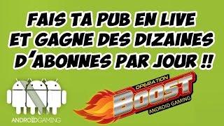 VIENS et FAIS TA PUB !!!  BOOST TES ABONNÉS EN LIVE!!!                   GO 21K !!!