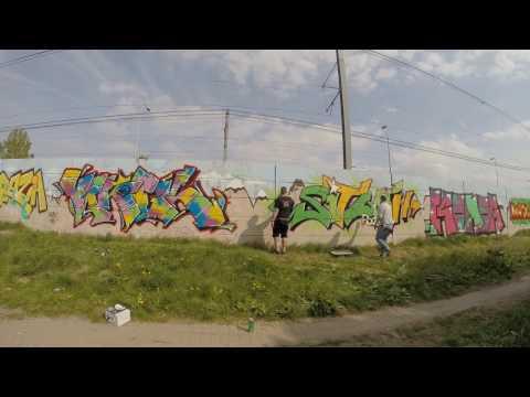 Graffiti - 2017 FB Crew (Budapest, Hungary, Legal wall)