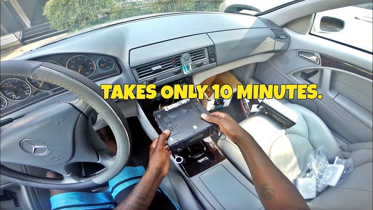 hight resolution of how to install an aftermarket car radio 2001 mercedes benz sl500