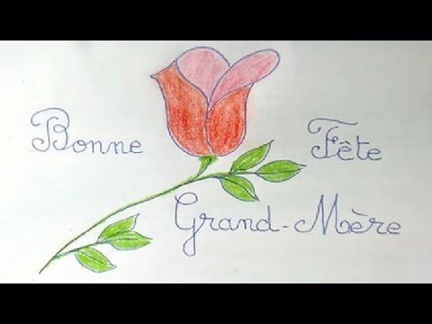 Bonne Fete Grand Maman Bricolage Diy D Une Carte A Offrir Youtube