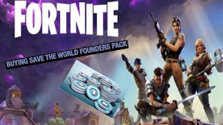 Buying the standard founders pack save the world fortnite