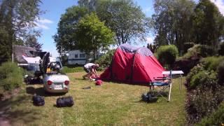 kamperen met de vango airbeam en de bmw K1300s