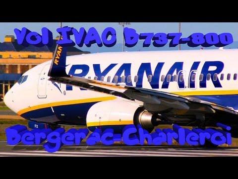 Vol IVAO Bergerac-Charleroi Bruxelles-Sud