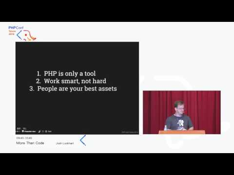 [PHPConf Taiwan 2016] Josh Lockhart   More Than Code