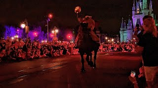 The Headless Horseman rides at Mickey's Not So Scary Halloween Party