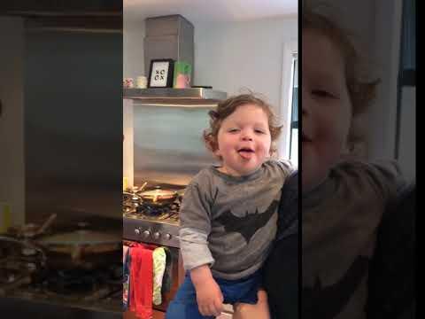 18 month Mack demonstrates pukana