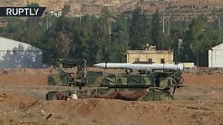 RAW: Syria's Mezzeh military airbase in Damascus following US-led coalition strikes