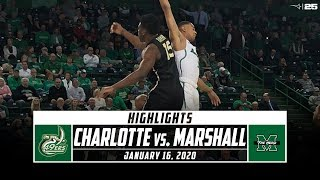 Charlotte vs. Marshall Basketball Highlights (2019-20) | Stadium