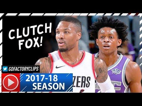 Rookie De'Aaron Fox vs Damian Lillard Duel Highlights (2017.11.13) Blazers vs Kings - CLUTCH FOX