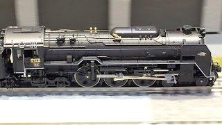 Nゲージ SL 蒸気機関車 C62 つばめ スハ44系 走行シーン