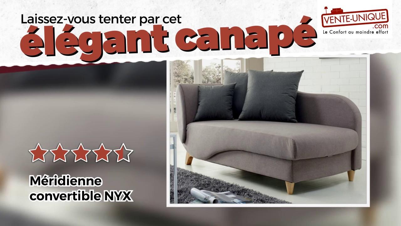 la meilleure attitude fb2c7 1596c Canapé convertible NYX en tissu