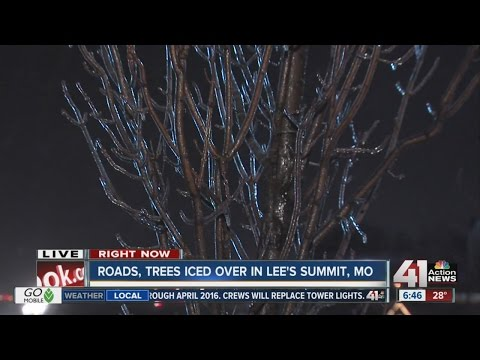 Roads, trees iced over in Lee's Summit