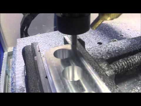 Aluminium milling on DIY CNC