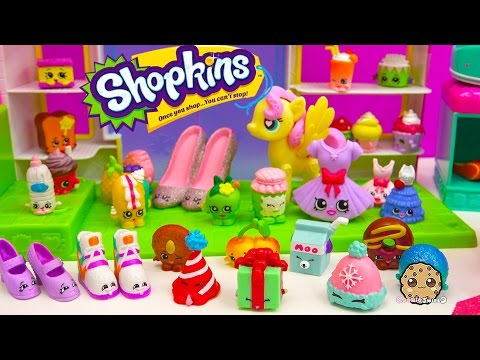 New Year Count Down Party At Small Mart With Shopkins + MLP Fluttershy Video