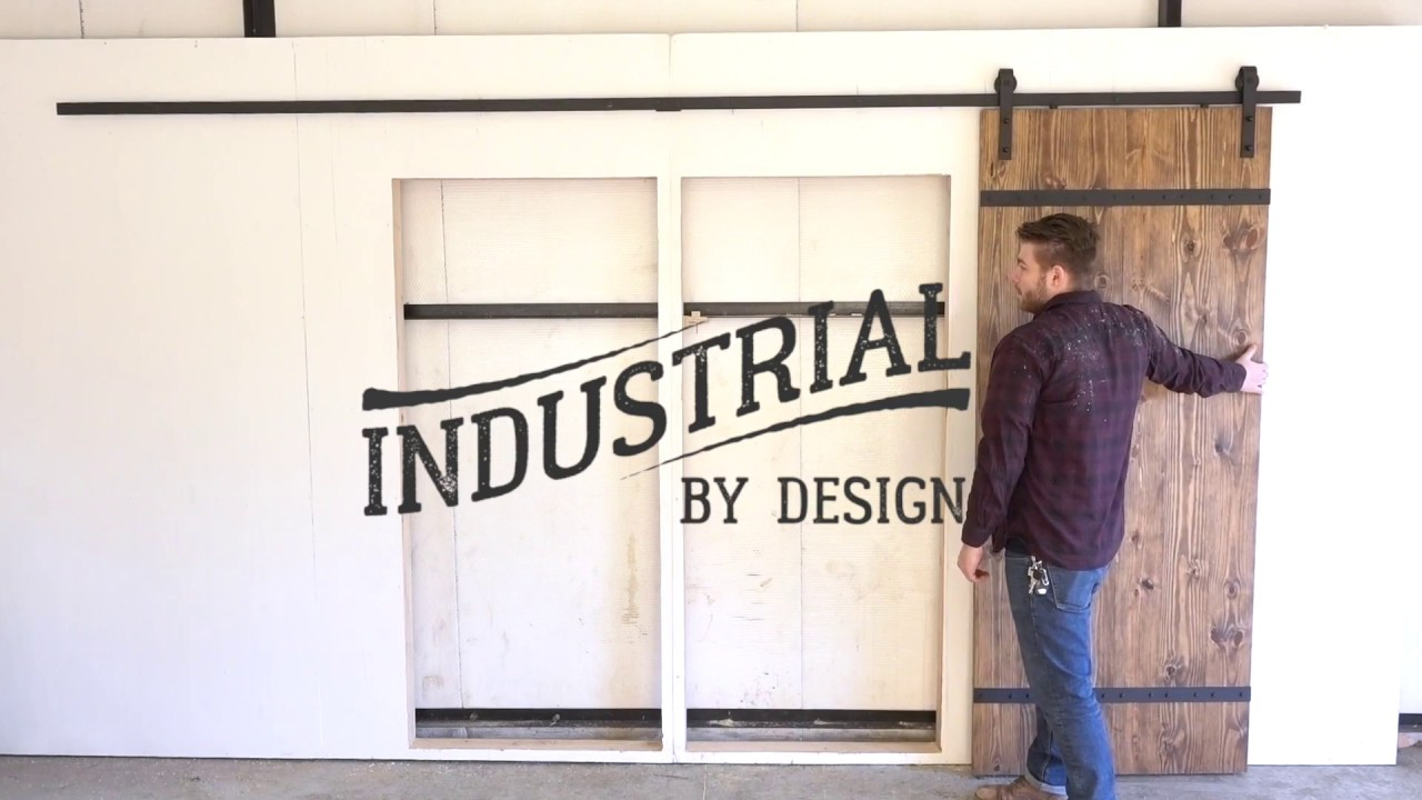 Step By Step 13u0027 Double Barn Door Hardware Installation   Industrial By  Design