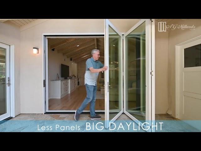 AG Millworks - Big Daylight Bi-Folds - Less Panels, BIG DAYLIGHT
