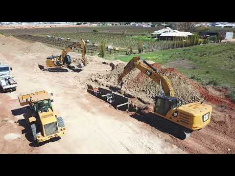 Drone Footage of Civil Construction - Pipelaying