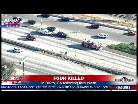 FIVE KILLED: In fiery crash on Interstate 10 in Rialto, CA (FNN)