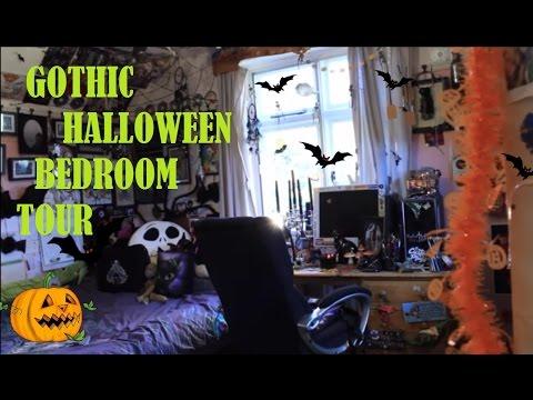 GOTHIC HALLOWEEN BEDROOM TOUR 2016 - TheHauntedBat