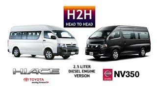 Head2Head 24 Toyota HIACE vs Nissan NV 350 Diesel 2.5 Liter version