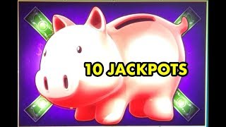 HANDPAYS ONLY: Lock it Link Piggy Banking Slot Machine Jackpot Handpay Collection