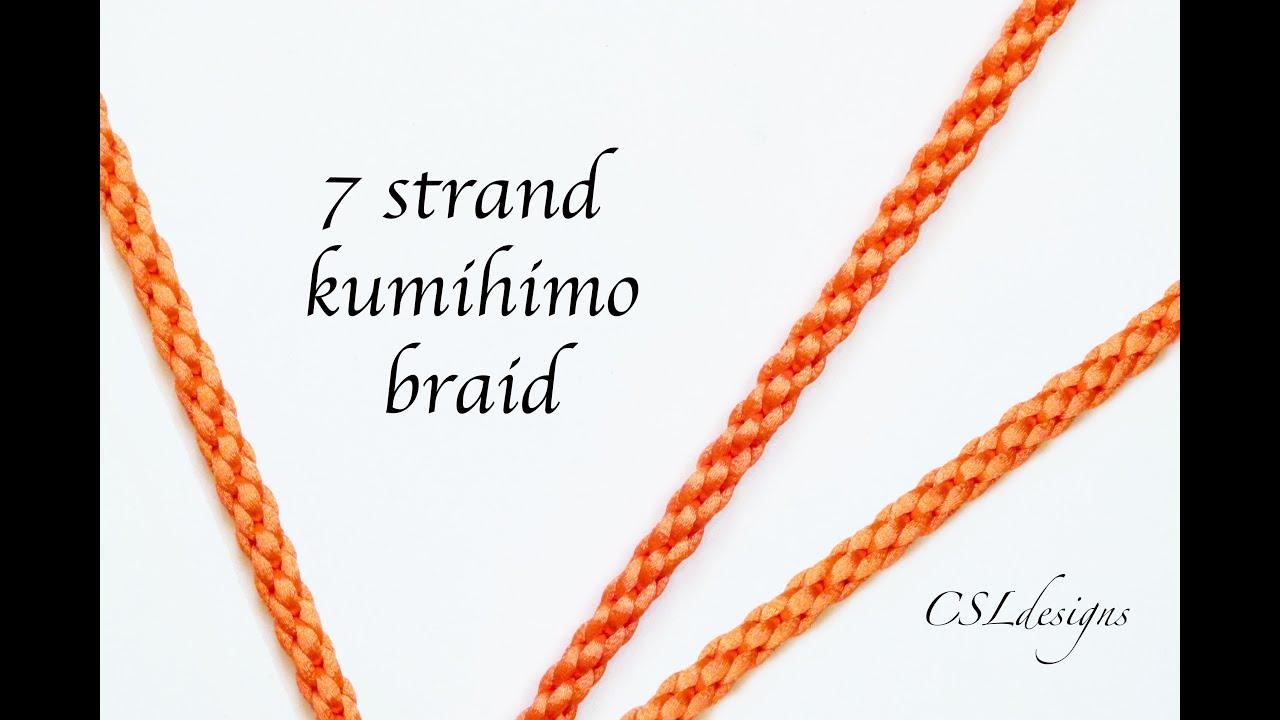 7 strand kumihimo braid