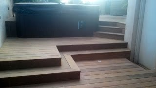 Ipe Jacuzzi deck surrounded with stairs