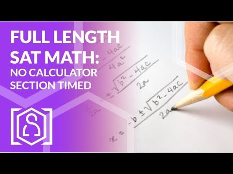 Full Length SAT Math No Calculator Section Timed! - YouTube