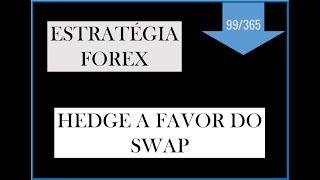 ESTRATÉGIA FOREX - HEDGE A FAVOR DO SWAP - Vídeo 99 de 365