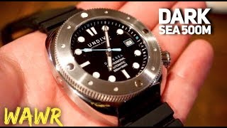 UNDIVE Dark Sea 500M Automatic Dive Watch Review - Beautifully built Diver!