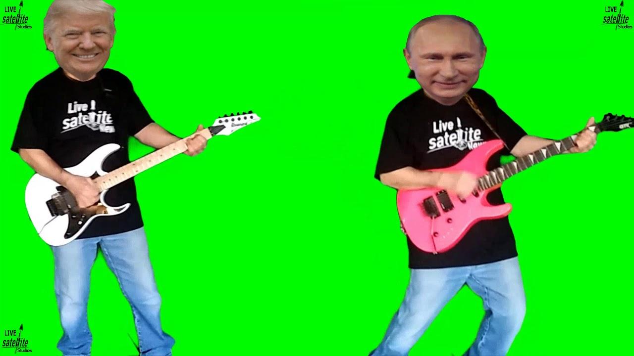 Donald Trump And Vladimir Putin Play Guitar Green Screen Chroma Key Youtube