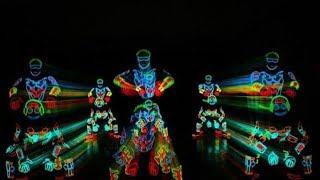 Световое неоновое шоу Light Balance are switched on Britain's Got Talent 2014